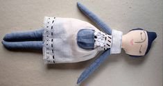 Fabric handmade Rag doll Cloth doll with blue purple painted Rag Dolls, Plushies, Kids Toys, Purple, Blue, Doll Clothes, Slippers, Dance Shoes, Trending Outfits