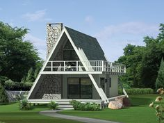 A frame houses | Grantview A-Frame Home Plan 008D-0139 | House Plans and More