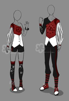 """Red Boy'nGirl Outfit - unlimited by <a href=""""http://Nahemii-san.deviantart.com"""" rel=""""nofollow"""" target=""""_blank"""">Nahemii-san.devia...</a> on @deviantART"""