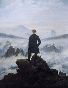 Caspar David Friedrich  El caminante sobre el mar de nubes 1818