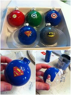 Superhero Ornaments   36 Adorable DIY Ornaments You Can Make With The Kids