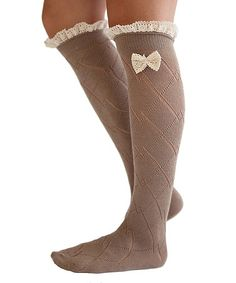 Another great find on #zulily! Brown & Ivory Ruffle Boot Socks by Our World Boutique #zulilyfinds