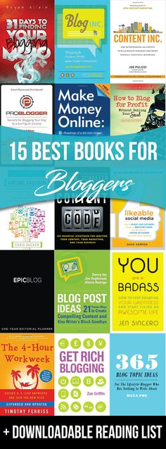 MilwaukeeMillennial.com has put together a comprehensive list for the 15 best books for bloggers of all experience levels