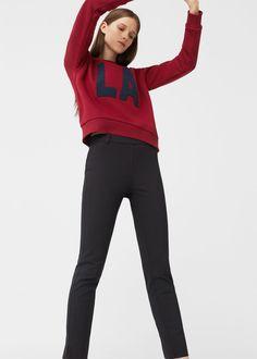 Crop παντελόνι σωλήνας - Γυναίκα f9e3a63f00