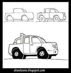 How to Draw Cartoons: How to draw a cartoon truck
