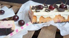 Cheesecake mit Kirschen und Oreoboden