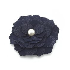 Meilliwish Fabric Flowers Wedding Women Girls Hair Clip Hairpin(A76)(DarkBlue) -- Read more at the image link. (This is an affiliate link and I receive a commission for the sales)