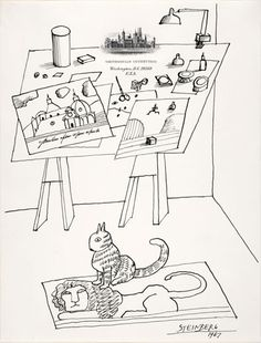Saul Steinberg, cat