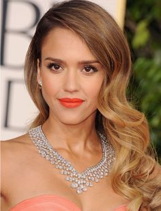 Get The Look: Jessica Alba's Golden Globes Hair and Makeup | Daily ...