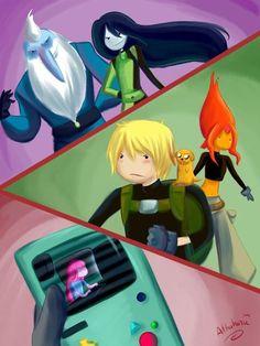 finn the human Adventure Time Princess Bubblegum crossover Jake ...