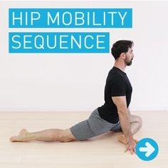 Hip Stretches & Mobility Routine - 8 Exercises to . Hip Stretches & Mobility Routine – 8 Exercises to Loosen Tight Hips Hip Exercises For Men, Hip Mobility Exercises, Hip Stretches, Flexibility Workout, Back Exercises, Stretching Exercises, Stretching For Flexibility, Exercise Moves, Scoliosis Exercises