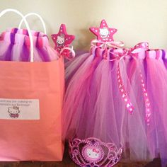 Hello kitty princess party favors- tutu, wand and tiara