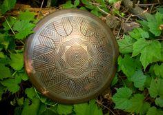 """GUBAREV drum MINI Overton """"Indian"""", custom scale, hand made music instrument, Handpan, Steel Tongue Drum, Unique idiophone from Ukraine."""