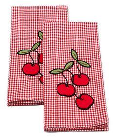 Cherry Gingham Napkins