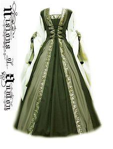 robe medievale verte