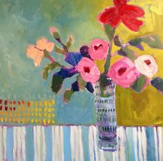 """""""From the Garden"""", oil on canvas, 24x24 by Annie O'Brien Gonzales, Santa Fe, NM"""