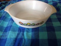 A personal favorite from my Etsy shop https://www.etsy.com/listing/482765297/fire-king-summerfield-casserole-dish