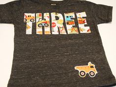 Construction truck birthday shirt bulldozer dump truck truck theme birthday party excavator.