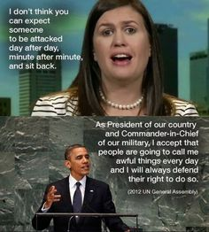 """No Sarah BARAK OBAMA WAS A VERY CLASSY GENTLEMAN, WHO TOOK A LOT OF HEAT EVERY DAY HE WAS IN OFFICE, BUT TRULY BELIEVED THATS WHY WE HAD FREEDOM OF SPEACH. He didn't whine about it EVERY DAY like the 70 something year old CHILD WHO IS CURRENTLY In Office now. And none of the former presidents ever needed a daily dose of """"Positive Notes & LIES!"""" About what he really isn't good at!! DOES TRUMP NEED A VIOLIN SO HE CAN KEEP WHINING??! GROW UP!! And Sarah you need to wake up girl!!"""