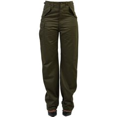 Drawstring Trousers ($478) ❤ liked on Polyvore featuring pants, army, cotton drawstring pants, cotton trousers, drawstring trousers, army trousers and multi pocket pants