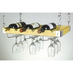 Concept Housewares 6 Bottle Hanging Wine Rack.