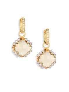 Jude Frances - Provence Champagne Citrine, Diamond & 18K Yellow Drop Earrings