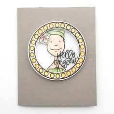 Hello Gorgeous Card by Brandi Kincaid.  #EllenHutsonLLC #EssentialsbyEllen  #SpaDay #MirrorMirror