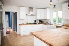 clean, minimalist kitchen