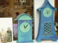 Anita Peach Ceramic Clocks