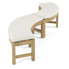 Buckingham Rounded Teak Backless Bench | Westminster Teak Teak Furniture, Outdoor Furniture, Outdoor Decor, Furniture Ideas, Westminster Teak, Teak Garden Bench, Tree Bench, Fire Pit Seating, Teak Table