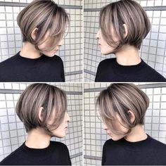 Pin on おしゃれ Pin on おしゃれ Cut My Hair, Love Hair, Bob Hair Color, Shot Hair Styles, Hair Images, Short Hair Cuts For Women, Hair Day, Hair Designs, Hair Looks