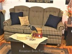 Country Sofas, Primitives, Favorite Things, Couch, Furniture, Home Decor, Settee, Decoration Home, Sofa