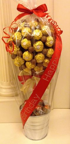 Ferrero Rocher and Maltesers Candy Tree www.candytreescambridge.co.uk