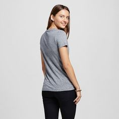 Women's Short Sleeve Essential Crew T-Shirt Gray Triblend XL - Mossimo Supply Co.