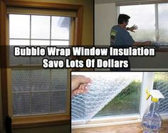Diy Bubble Wrap Window Insulation Shtf Preparedness Windows
