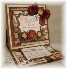 Easel Calendar Card by cher2008 - Cards and Paper Crafts at Splitcoaststampers