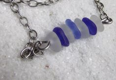 Sea Glass Necklace  Nautical Seaglass Jewelry   by SeaFindDesigns, $35.00