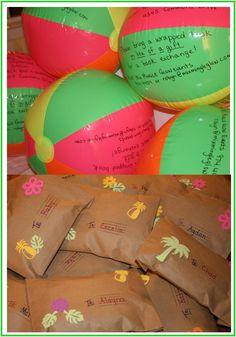 Pool party invitations on beach balls! Fun idea, thanks Christena! Beach Ball Party, Luau Party, First Birthday Parties, First Birthdays, Luau Birthday, 16th Birthday, Birthday Ideas, Hawaian Party, Sweet 16 Parties