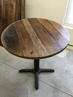Reclaimed Wood Variety 24 Round Or Larger Size Sanded And Stained Browns  Greys Black Or Request · Round Table TopRound ...