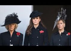 No day is too sad for a fancy fascinator! Kate Middleton at Remembrance Day 2011