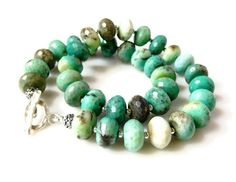 Moss Opal Necklace Statement Moss Green Single by MsBsDesigns, $268.00