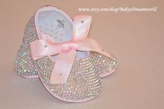 baby Swarovski Rhinestones ballet  shoes 012 por babysdreamworld, $120,00