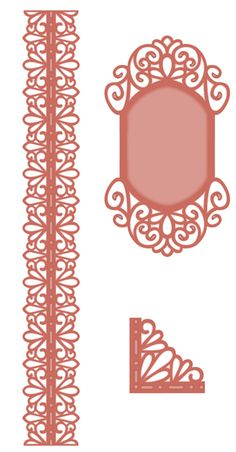 Sue Wilson Designs - Die - Scandinavian Collection - Corner, Border, Tag (set of 3 dies),$29.99
