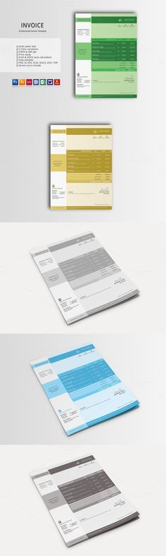 invoice template, photography invoice, business invoice, receipt, Invoice templates