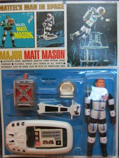 MATTEL: 1966 Major Matt Mason Action Figure with Space Equipment #Vintage #Toys