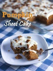Food Network Pumpkin Sheet Cake