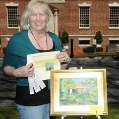 Award winning artist N Taylor Collins - this was their place for Plein air event in #Delaware #Artistatwork