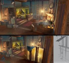 vignette4.wikia.nocookie.net assassinscreed images b bc ACU_Cafe_Theatre_Arno%27s_Bed_-_Concept_Art.jpg revision latest scale-to-width-down 519?cb=20150713223857