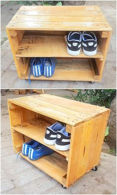 If you have the shelf effect in the house, it will look elegant and give your home a decent appearance. This image shows the perfection of the design of shelves in the work of wooden pallets. Pallet Door, Wooden Pallet Table, Pallet Seating, Pallet Tv, Pallet Shelves, Wooden Pallets, Wooden Diy, Diy Wood, Pallet Crafts