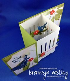 GARDEN AVIARY Z-FOLD BOX CARD